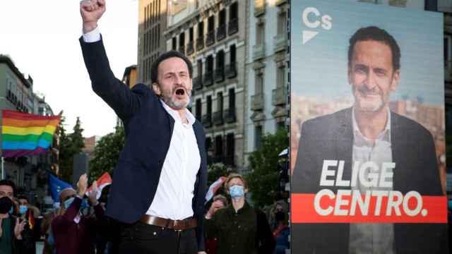 Edmundo Bal, candidato de Ciudadanos, durante el arranque de la campaña.