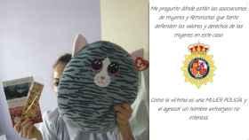 Estefanía, la agente agredida en Valencia, junto a un mensaje de malestar por el silencio de los colectivos feministas.