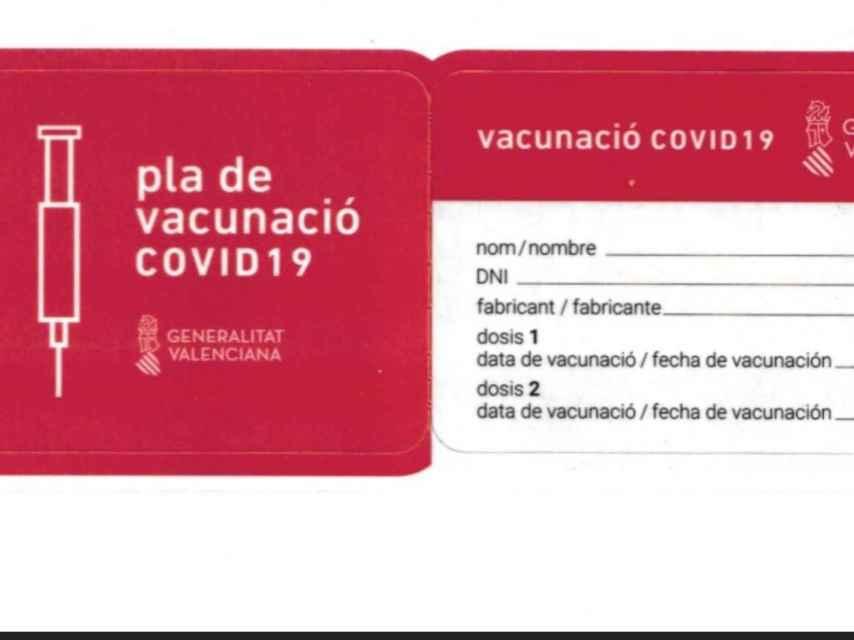 Carnet de vacunación.