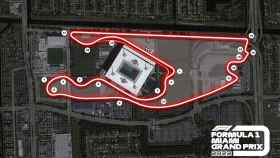 El trazado del circuito urbano del Gran Premio de Miami de Fórmula 1