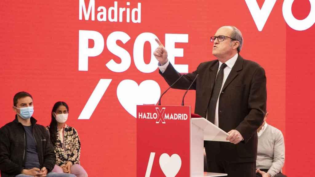 Ángel Gabilondo, este domingo en un acto de campaña.
