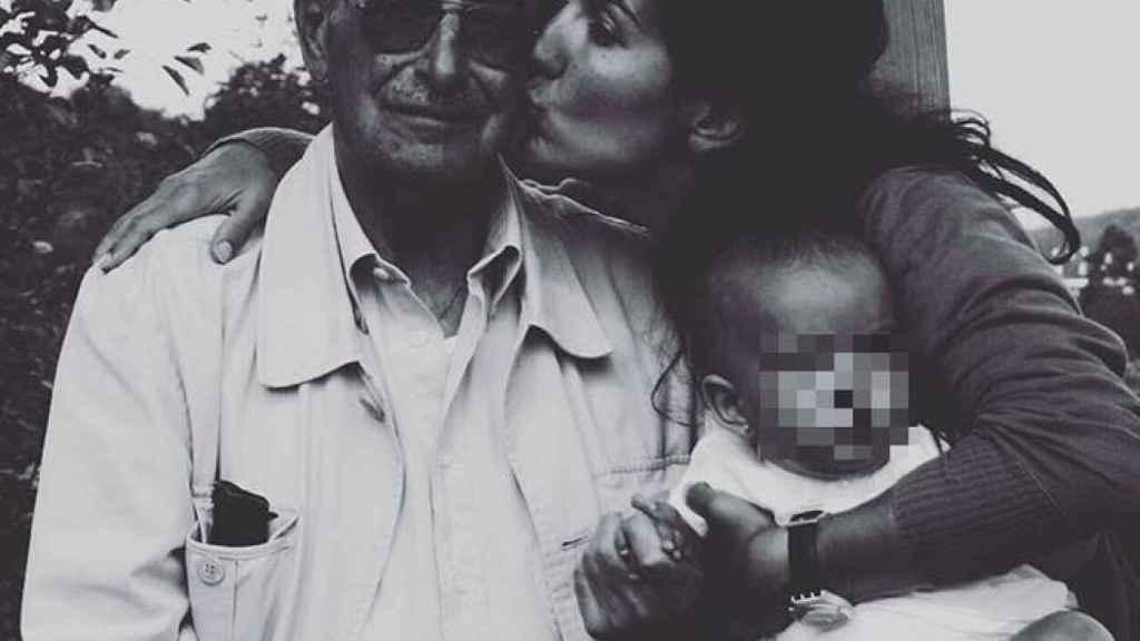 Rocío Monasterio y su padre, Antonio.