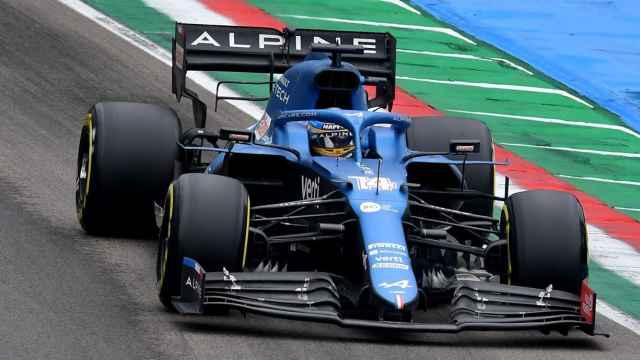 Fernando Alonso en el Gran Premio de la Emilia Romaña en Imola