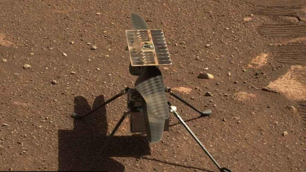 Ingenuity en el suelo de Marte