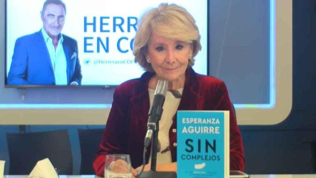 Esperanza Aguirre, en entrevista a la Cope.