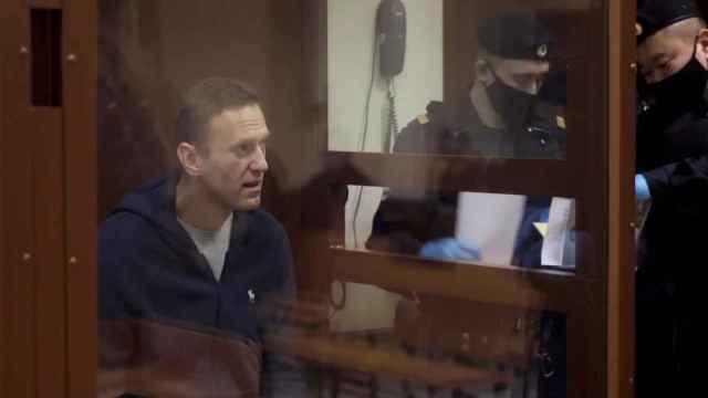 Navalny durante su juicio.