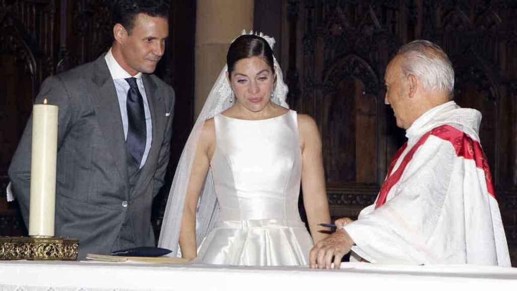 Imagen de la boda de Leire Martínez y Jacobo Bustamante en 2014.