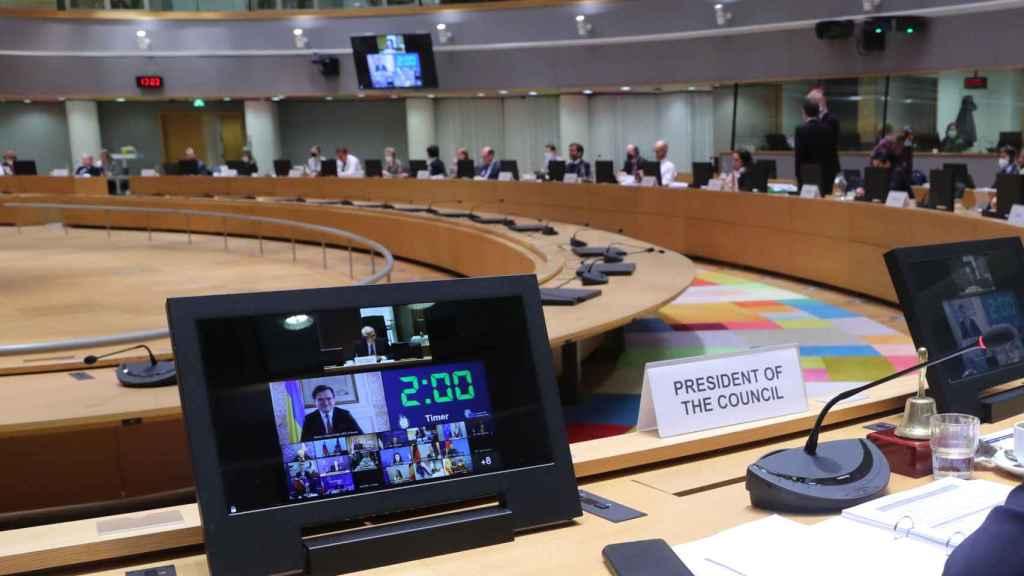 El ministro de Exteriores de Ucrania, Dmytro Kuleba, pide a la UE más sanciones contra Rusia