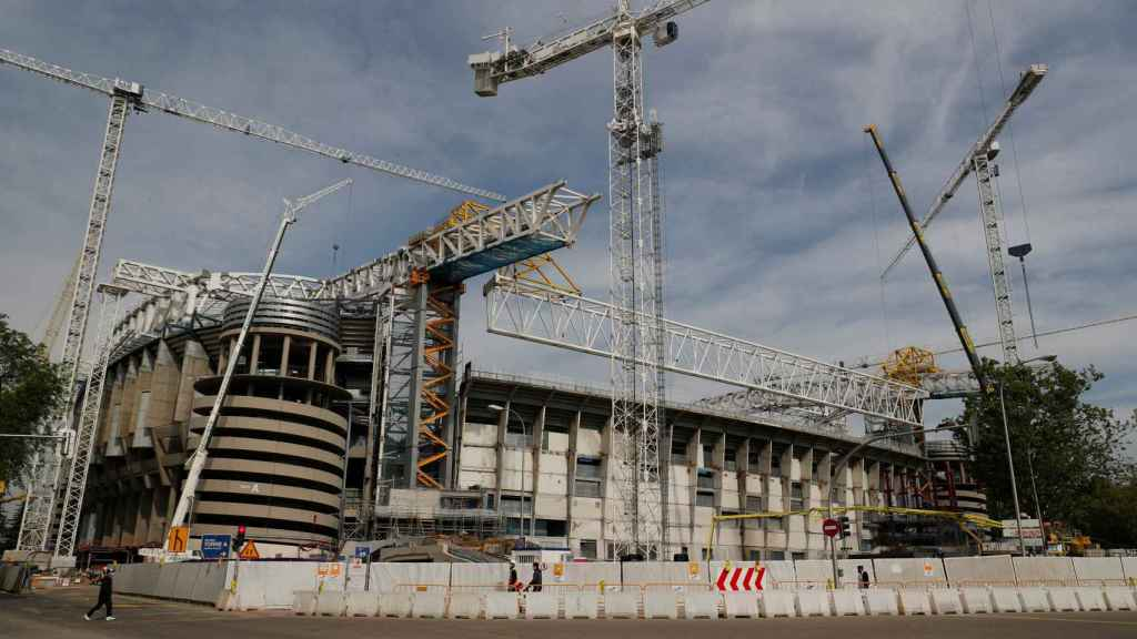 Una imagen de las obras del Estadio Santiago Bernabéu