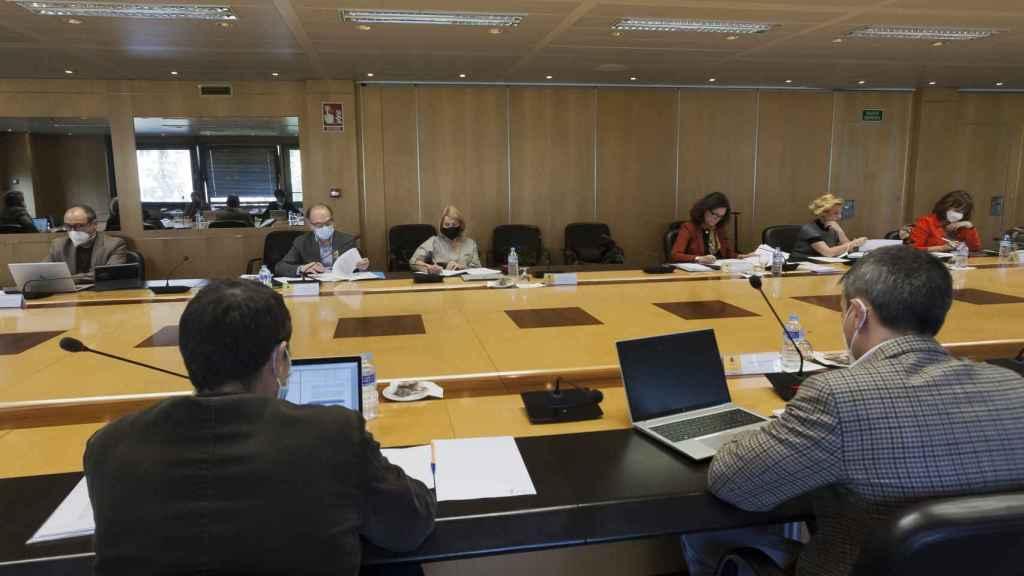 La mesa del Diálogo Social reunida para la negociación de las pensiones.