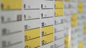 Un calendario en una imagen de archivo.