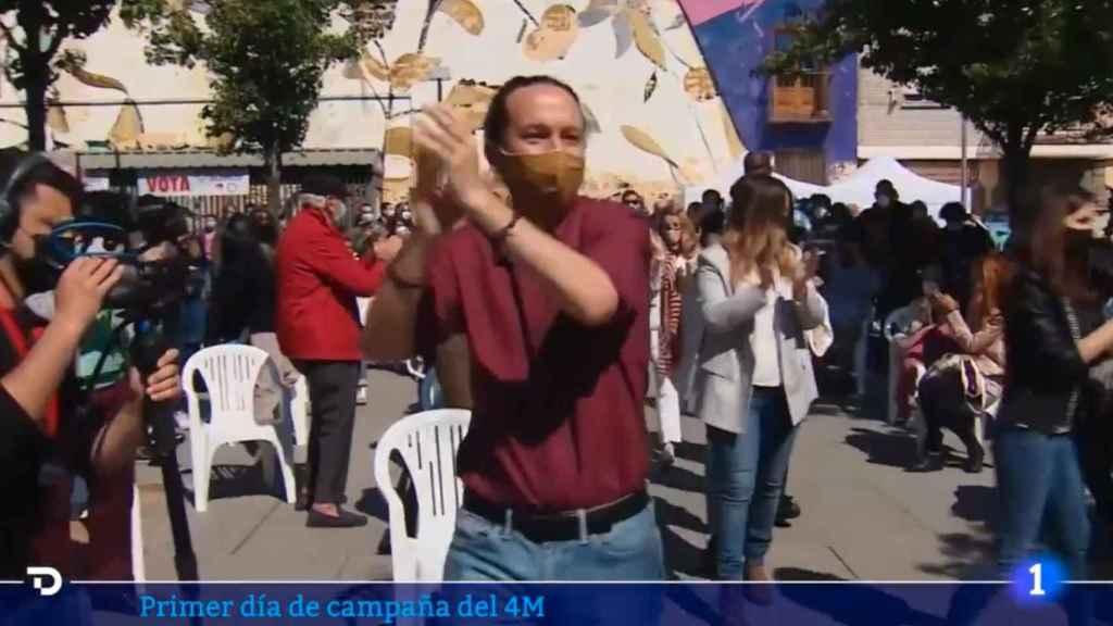 Críticas al 'Telediario' de TVE por la desigual cobertura dada a Unidas Podemos