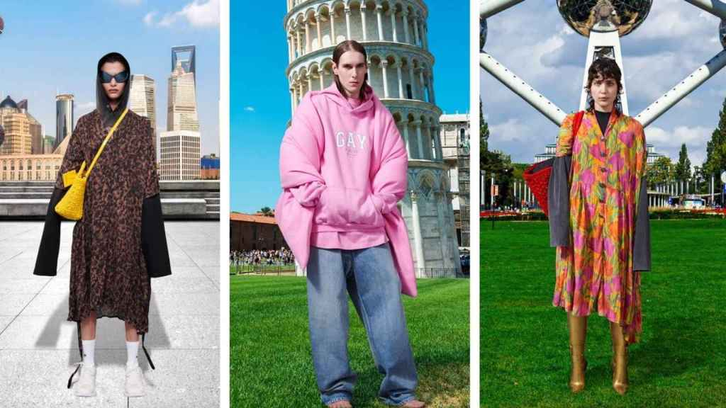 Balenciaga regresa con diseños coloridos, contrastes y turismo.