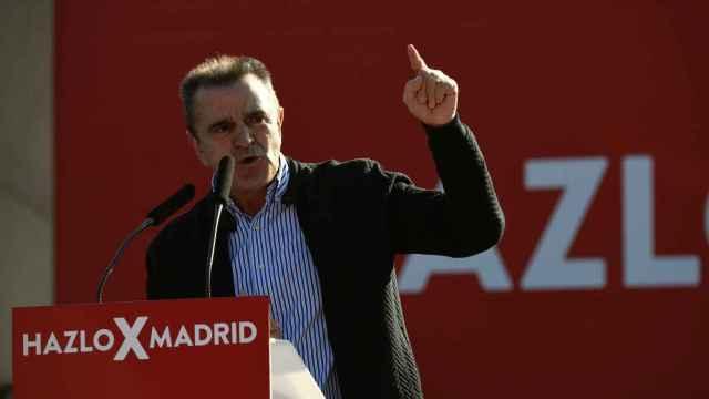José Manuel Franco durante un acto de campaña de las elecciones madrileñas