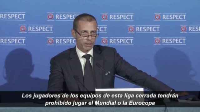 Ceferin reitera la amenaza de UEFA: Quien juegue la Superliga Europea, no volverá con su selección