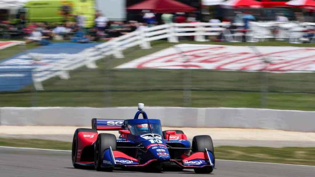 Álex Palou durante el GP de Alabama 2021