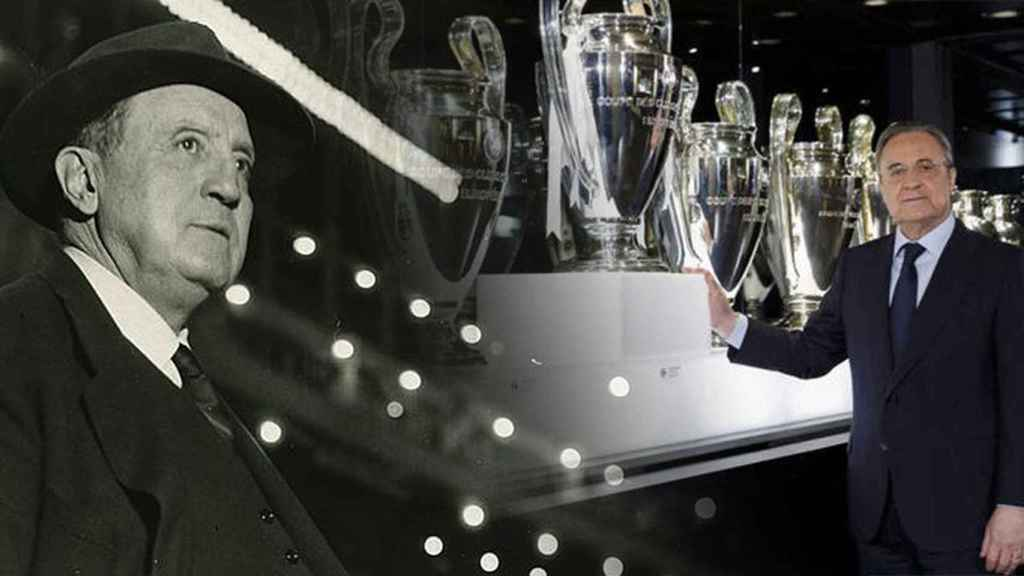 Santiago Bernabéu y Florentino Pérez