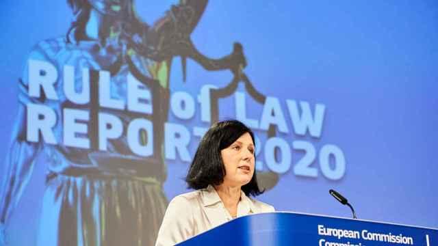 La vicepresidenta de la Comisión, Vera Jourova