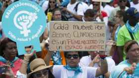 Imagen de archivo de una manifestación a favor del aborto en República Dominicana.