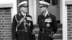 Lord Mountbatten y el príncipe Felipe, en una imagen de archivo.