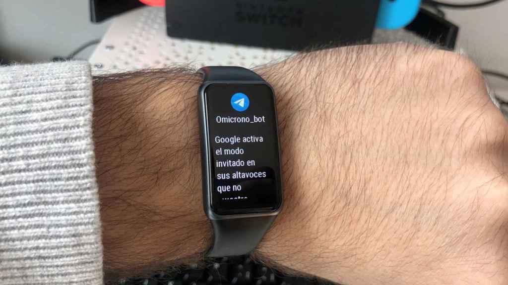 La Huawei Band 6 permite consultar notificaciones.