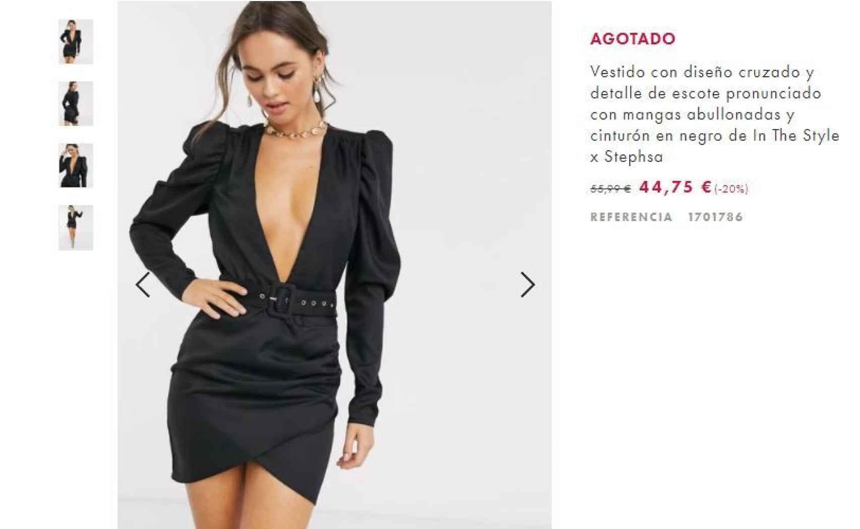 Un vestido prácticamente idéntico al de Julia se podía encontrar en ASOS hasta este lunes.