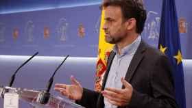 El presidente del grupo parlamentario de Unidas Podemos en el Congreso, Jaume Asens. Efe