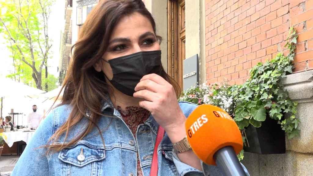Marisa Jara en una imagen tomada este mismo martes tras anunciar su revés de salud.
