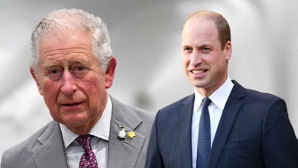 Carlos de Inglaterra y el príncipe Guillermo, en un fotomontaje de JALEOS.