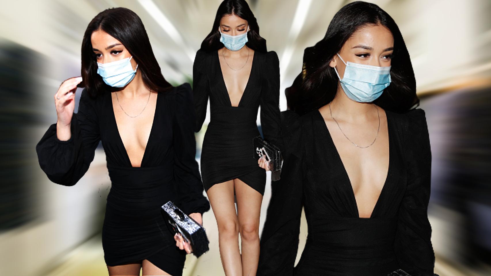 Julia Janeiro eligió un 'little black dress' para celebrar su 18º cumpleaños.