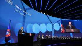 Gianni Infantino, en el 45º Congreso de la UEFA