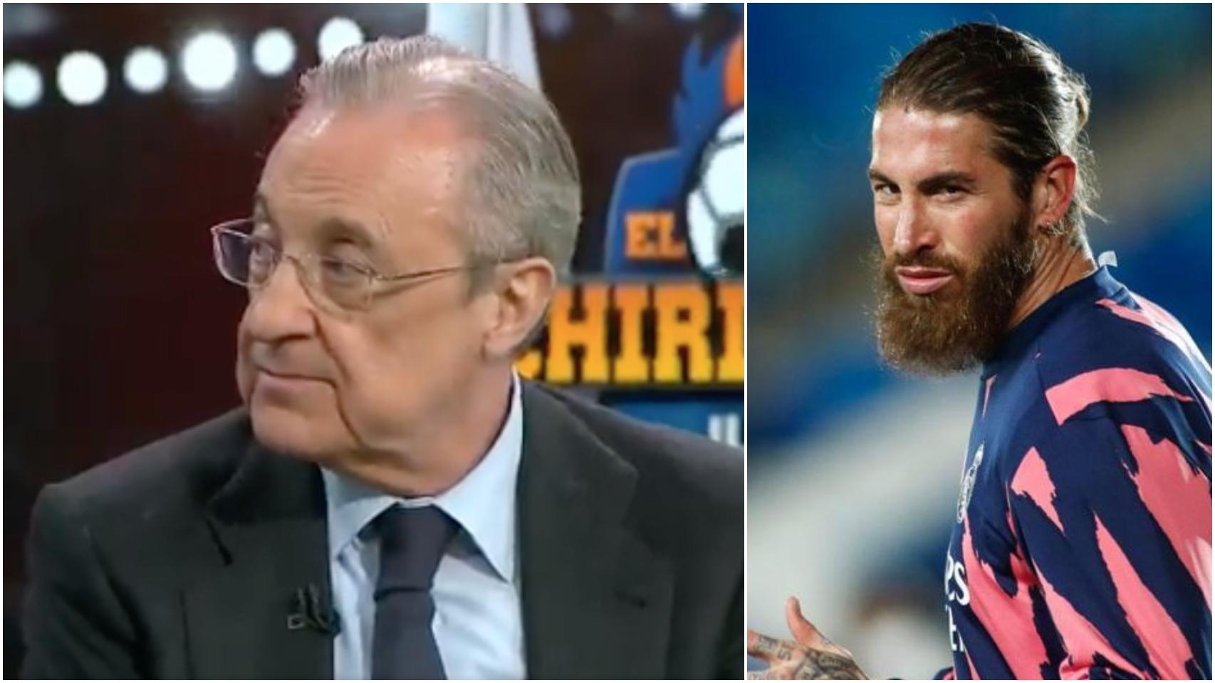 Florentino Pérez y Sergio Ramos, en un collage