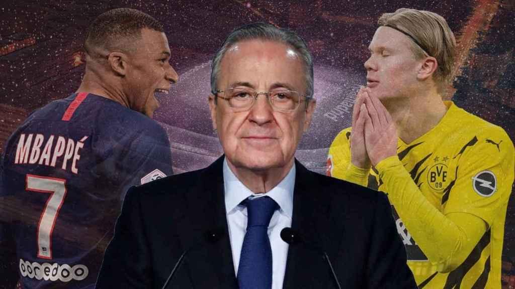 Florentino Pérez, Mbappé y Haaland