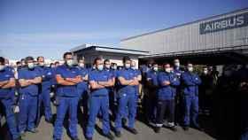 Trabajadores de Airbus en una imagen de archivo.