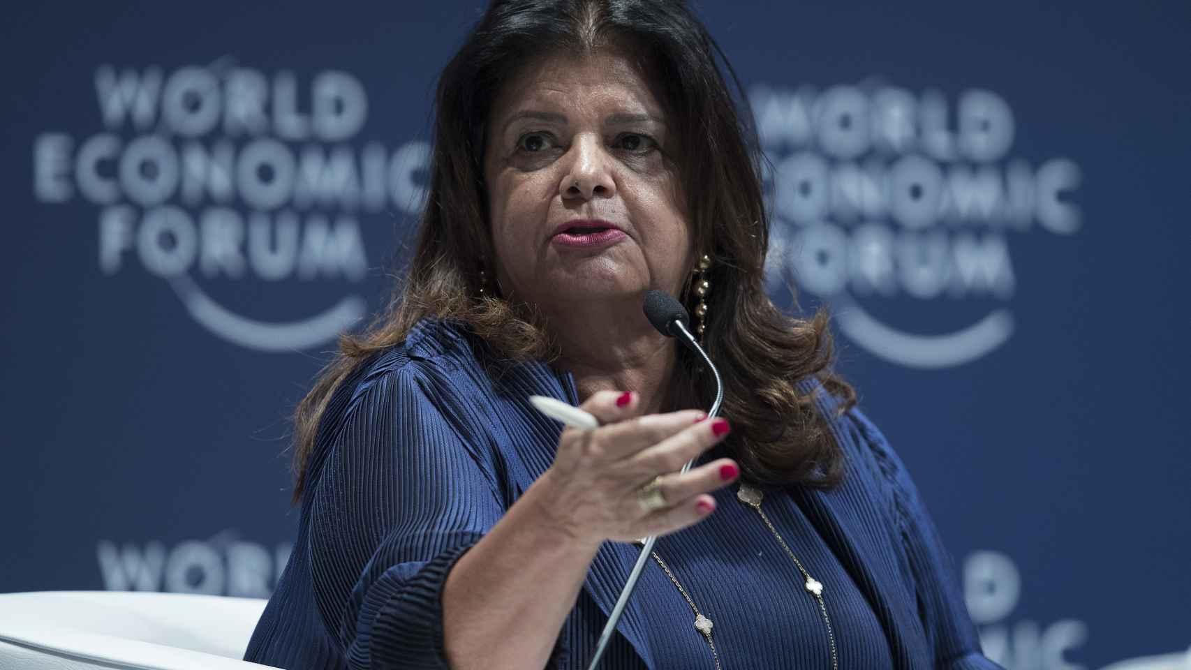 Luiza Helena Trajano durante el Foro Económico para Latinoamérica, en Sao Paulo (Brasil).