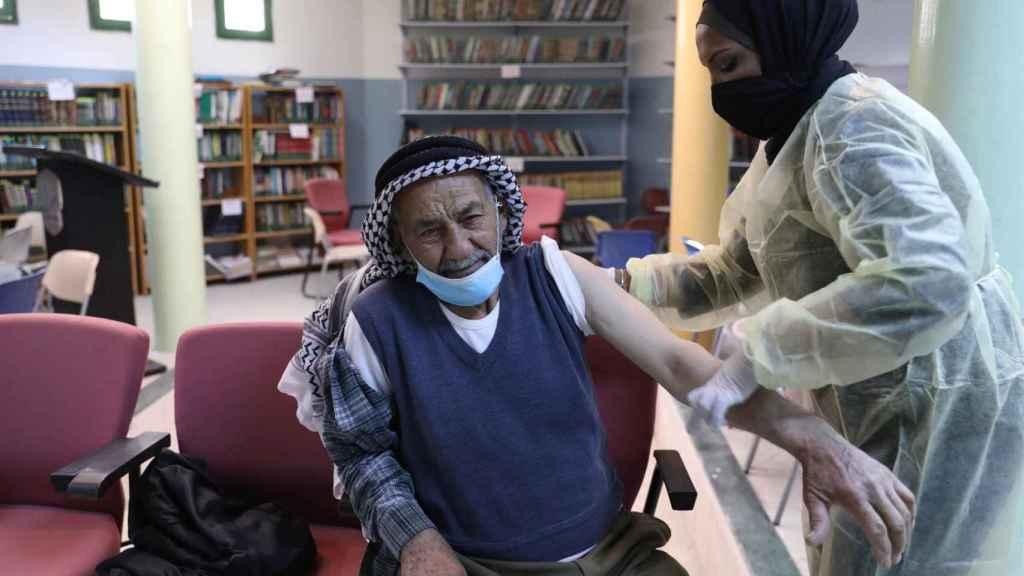 La campaña de vacunación en Palestina.