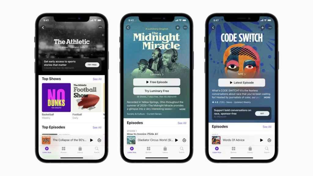 Apple Podcasts con nuevo servicio de suscripción