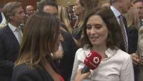 Isabel Díaz Ayuso entrevistada por Telemadrid.