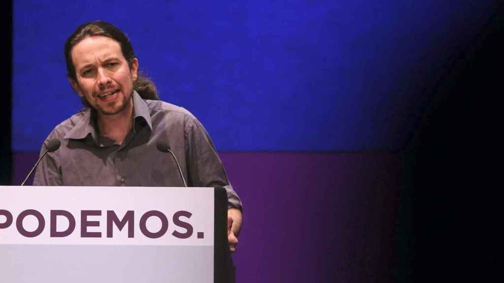 El candidato de Podemos a la Comunidad de Madrid, Pablo Iglesias. Efe