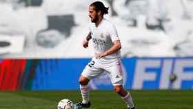 Isco Alarcón, con la camiseta del Real Madrid