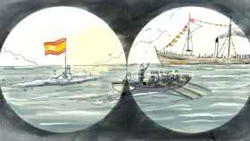 Viñeta del cómic 'Isaac Peral. La conquista de un sueño'.