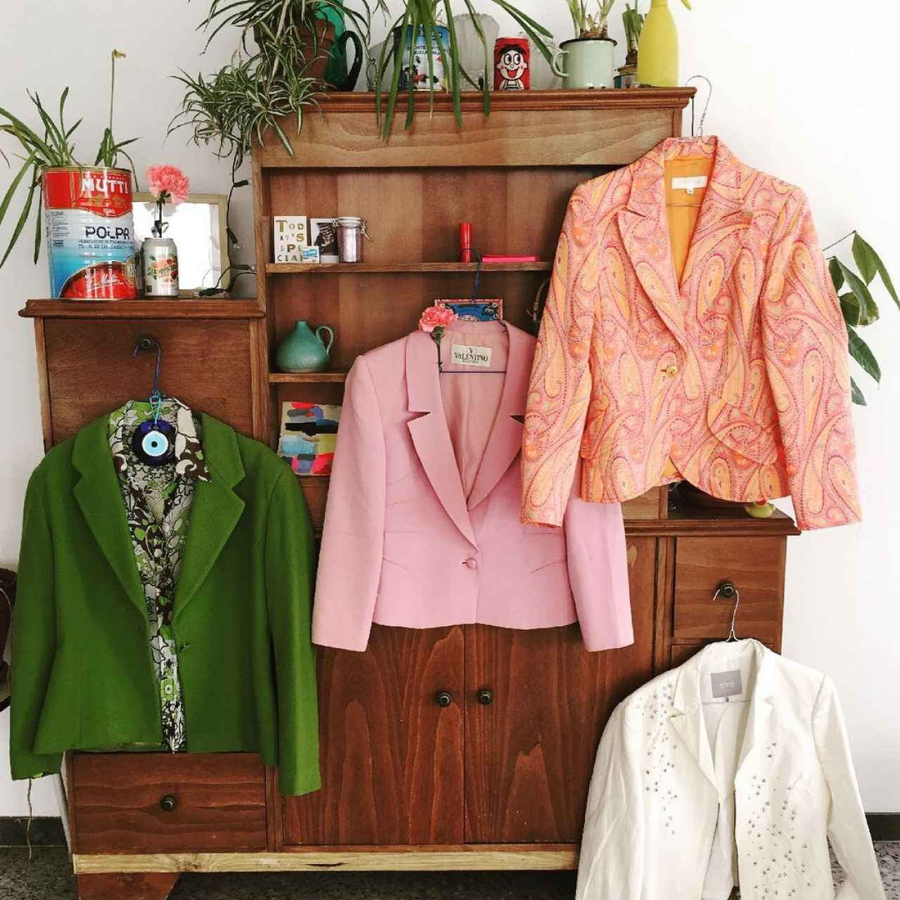 Several of the 'vintage' brand garments offered by Alto Copete.
