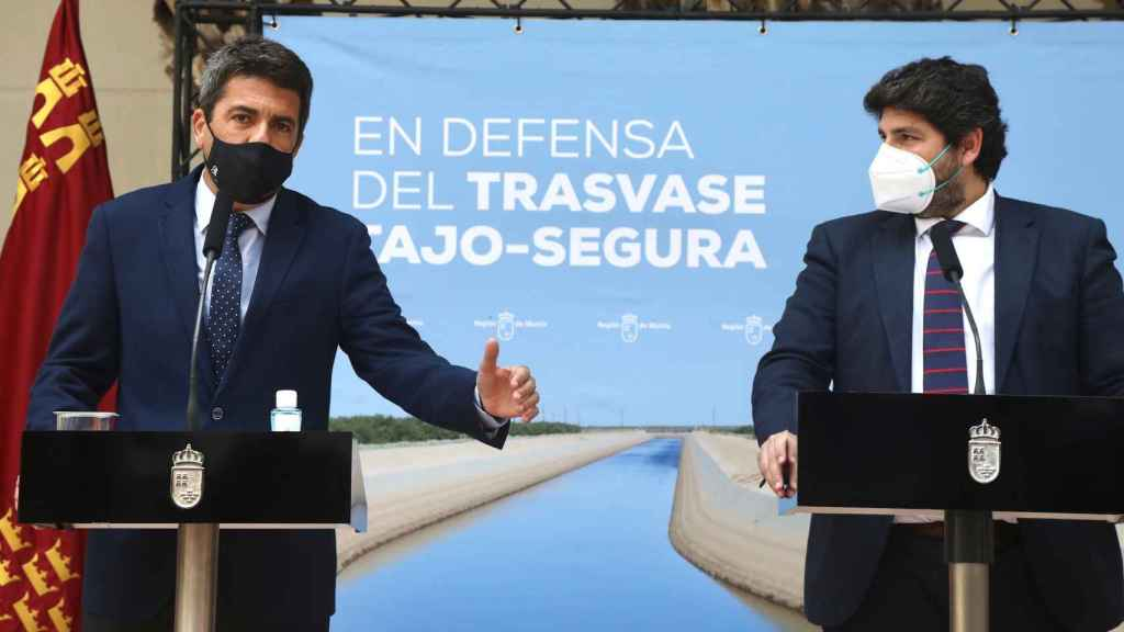 Mazón y López Miras, este martes en la firma del acuerdo.