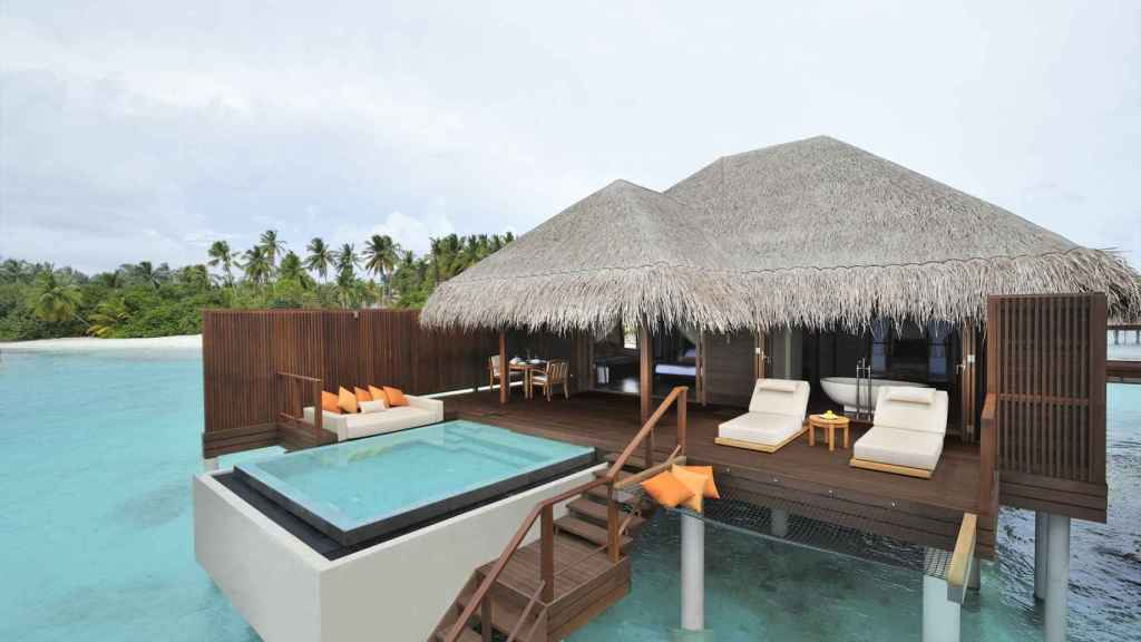 One of the villas offered by the Ayada Maldives hotel.