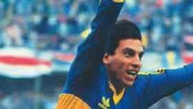 Alfredo Graciani, con la camiseta de Boca Juniors