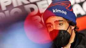 Fernando Alonso, durante el Gran Premio de Imola de Fórmula 1 de 2021