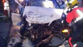Accidente en Chillaron de Cuenca. Foto: Ayuntamiento de Cuenca