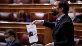 Iván Espinosa de los Monteros, durante la sesión parlamentaria de este miércoles.