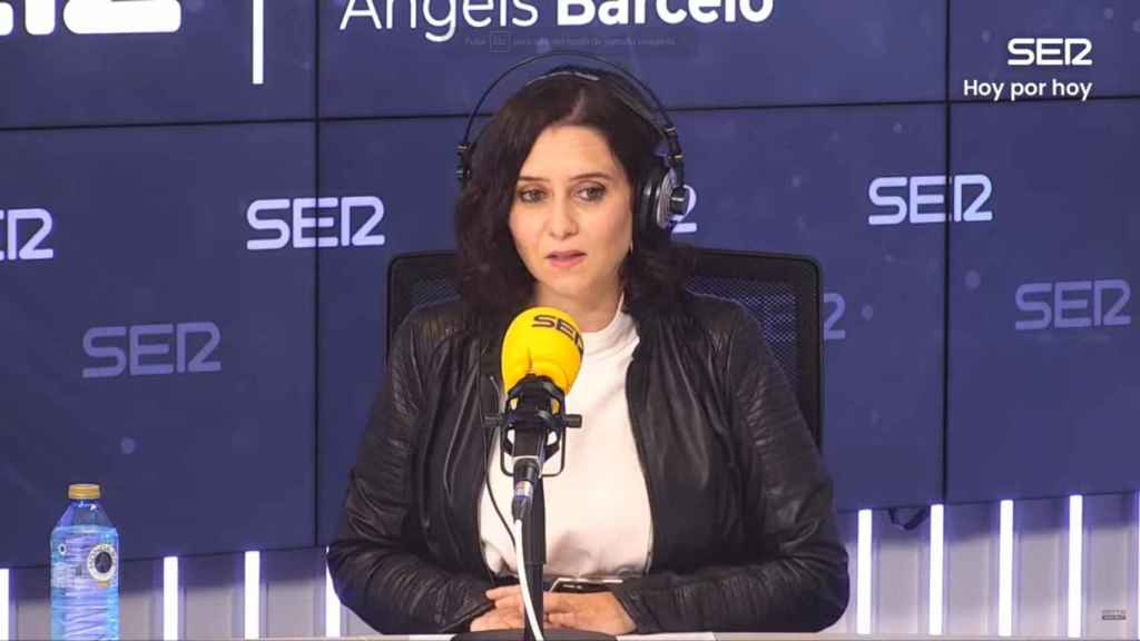 Isabel Díaz Ayuso, presidenta de la Comunidad de Madrid, en la Cadena SER.