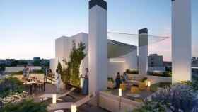 Imagen de la promoción ADF10 que construye Optimus Homes junto a Madrid Río.